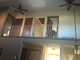 indoor balcony railing replace with new railing or half whole wall
