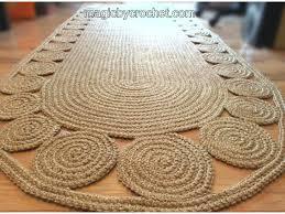 long runner rug jute runner rug hallway rug 7 foot rug twine