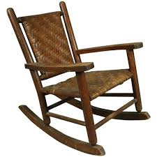 Benjamin Franklin Rocking Chair Antique Old Hickory Adirondack Style Child U0027s Rocker Circa 1920 At