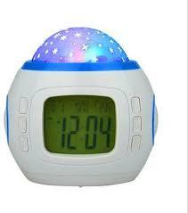 light projection alarm clock souq home decor music starry star sky digital clock led projection