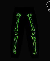 glow in the dark l in the dark l zachary black skeleton print pants stella mccartney kids