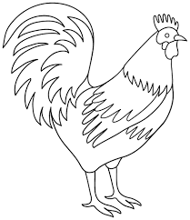 rooster coloring pages getcoloringpages com