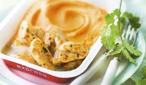 patate douce cuisine poulet sauce citron vert et coriandre purée de patate douce
