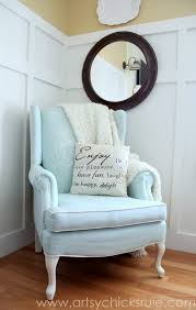 A W Upholstery Painted Upholstered Chair Makeover Chalk Paint Artsy Rule