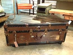 trunk coffee table diy old trunk coffee table antique storage chest image of wooden trunk
