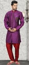 Buy Violet Embroidered Art Silk Make A Distinct Fashion Statement With This Violet Embroidered Art