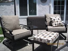 patio furniture with ottomans custom reupholstered patio chairs with ottoman and pillows jacoby