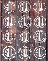 monogram car decal shop monogram car decal on wanelo cricut crafts