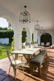 White Patio Dining Table And Chairs Concrete Outdoor Dining Table Design Ideas