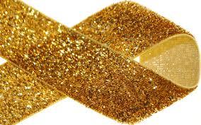 1 gold glitter ribbon superb supplies