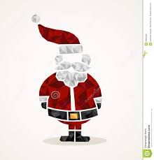 merry christmas trendy santa claus triangle shape eps10 file