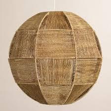 world market pendant light basket weave orb jute fiber pendant l world market sun room