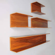 wall shelves by wilhelm renz in walnut