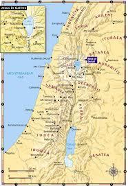 Jordan River Map Biblical Introduction Adults