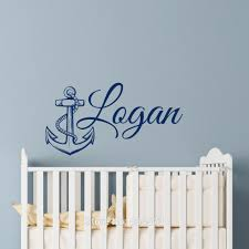online get cheap removing plastic wall anchors aliexpress com personalized anchor name wall art stickers decals