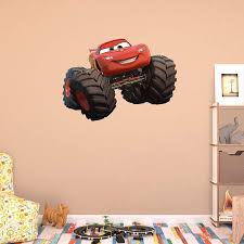 fathead monster truck lightning mcqueen wall decal walmart