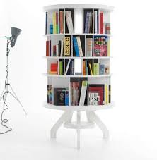 space saving furniture rotating book shelf