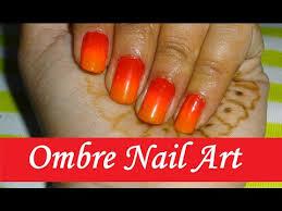 ombre nail art tutorial sunset design red pink orange naush