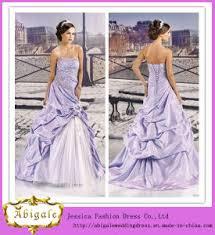 purple white wedding dress china a line strapless lace up back appliqued taffeta