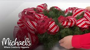 Add Ribbon U0026 Mesh To Your Wreath Make It Merry Michaels Youtube