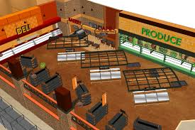 maxi foods supermarket design by i and grocery store floor plan