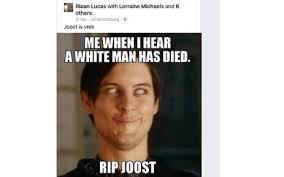 Racist Meme - human rights commission considers racist joost meme