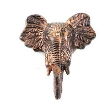 White Elephant Head Wall Mount Animal Decorative Wall Hooks