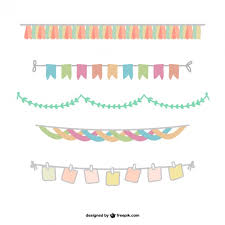 colorful garland pack vector free vector in ai eps