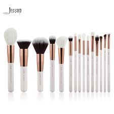 jessup pearl white rose gold professional makeup brushes set make