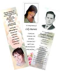 memorial bookmarks memorial cards cork memorial bookmarks