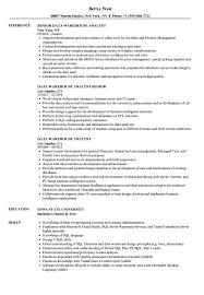warehouse resume exles data warehouse analyst resume sles velvet