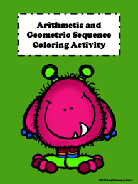 arithmetic and geometric sequence coloring activity from insight