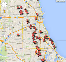 chicago map shootings chicago shootings killed on the 4th of july abc7ny