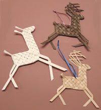 woven reindeer ornament pdf digital by