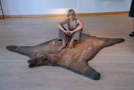 animal skin rugs with head rugs ideas