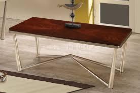 coaster company satin nickel coffee table 3pc coffee table set by coaster w brushed nickel base