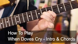 corvette chords when doves cry intro and chords prince guitar tutorial