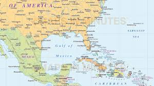 Map De Central America by North America Region Simple Country Map 10 000 000 Scale In