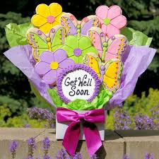 get well soon cookies get well cookie bouquet gourmet cookie bouquets