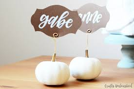 Thanksgiving Place Cards Craft Diy Thanksgiving Place Cards Easy Pumpkin Card Holders