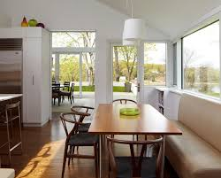 modern kitchen nook contemporary kitchen banquette table storage bench and dining room
