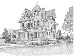 pencil sketches of houses hand drawn pencil sketch of french