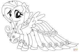 ponies at waterfall from my little pony coloring page my little