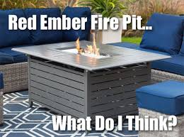 Ember Table Red Ember Longmont Rectangular Fire Pit Table Review