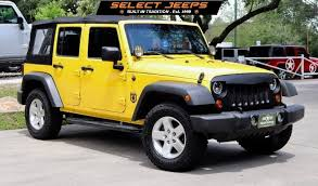 yellow jeep wrangler unlimited 2009 yellow jeep wrangler unlimited 16995 unlimited jk and lj