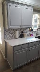 milk paint colors for kitchen cabinets golden oak to seagull gray kitchen transformation milk