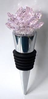 wine stopper wedding favors pink wine stopper handcraftded with swarovski