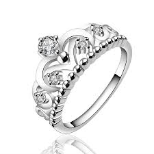 art silver rings images Buy yellow chimes royal crown austrian crystal silver ring for jpg