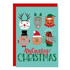 meowy christmas christmas card