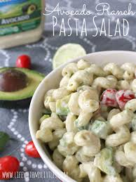 avocado ranch pasta salad life with my littles